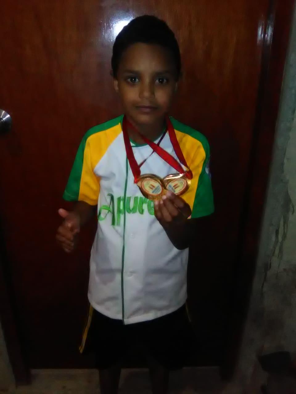 DIÁSPORA VENEZOLANA: Apureño Samuel Isaac Torres Guevara de 9 años de Edad deja en alto el estado Apure en Perú.