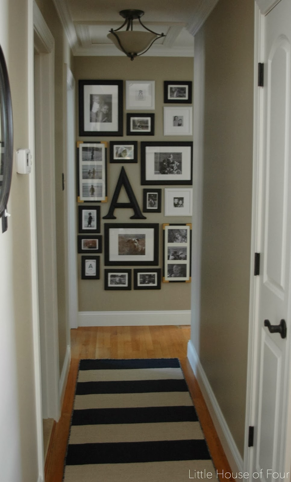 New Hallway Rug And Gallery Wall