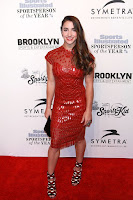Olympic Gymnast Aly Raisman best red carpet dresses Sports Illustrated Sportsperson of the Year Ceremony 2016 in New York