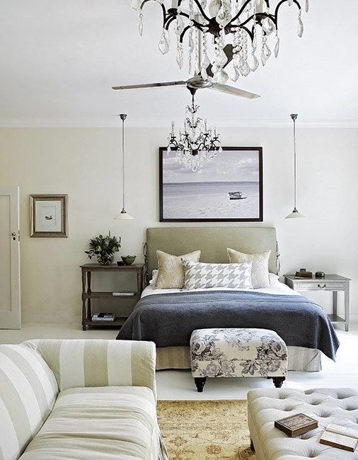 dormitorio con sofa y zona de relax chicanddeco