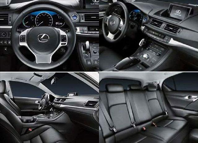 Four Way View Of 2017 Lexus Ct 200h Hybrid Interior