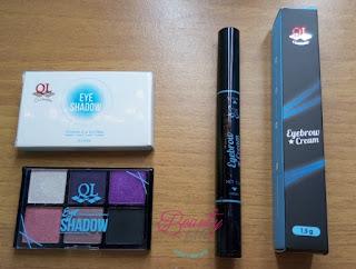 QL Cosmetics Brow Cream And Eyeshadow Palette