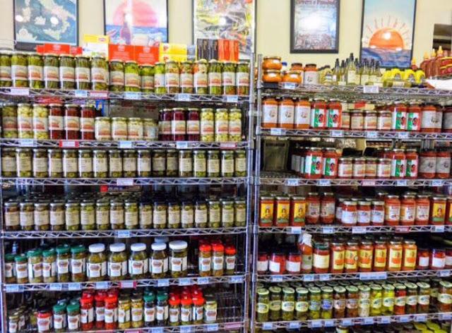 Loveras Italian market in Krebs, Oklahoma