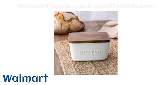 Better Homes & Gardens Porcelain Embossed Butter Dish