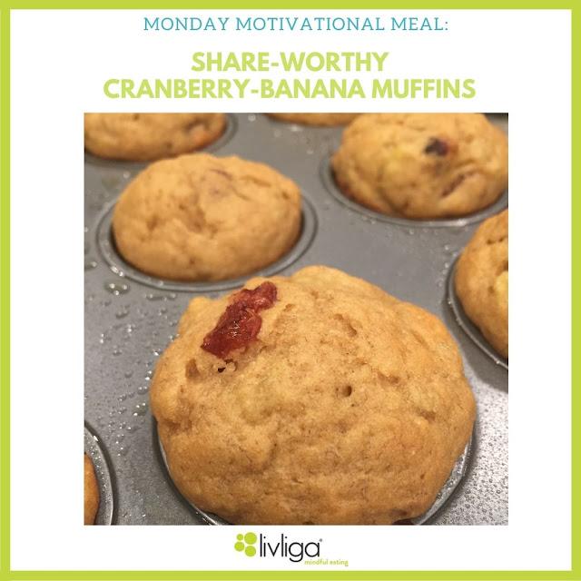 Livliga Cranberry Banana Muffins