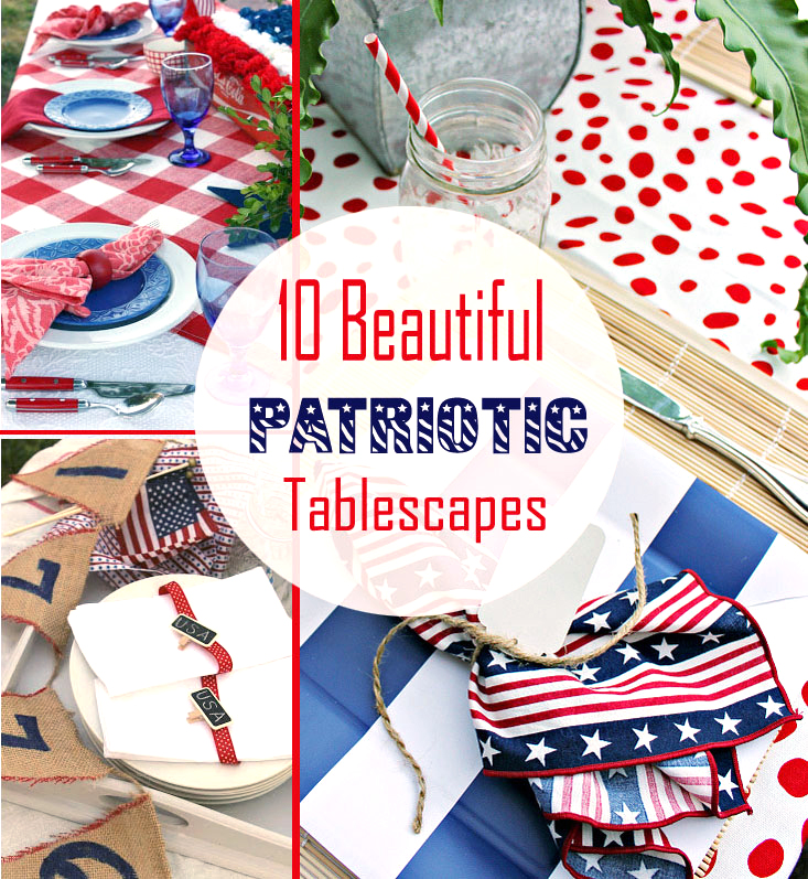 beautiful tables for the 4th of July