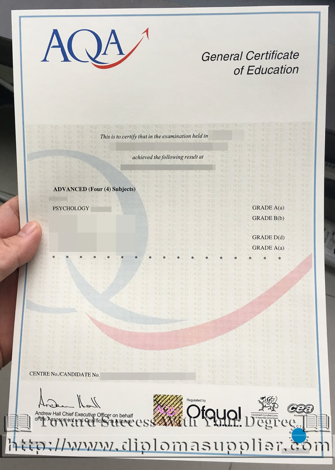 Buy a fake aqa gce certificate from uk for Gcse certificate template