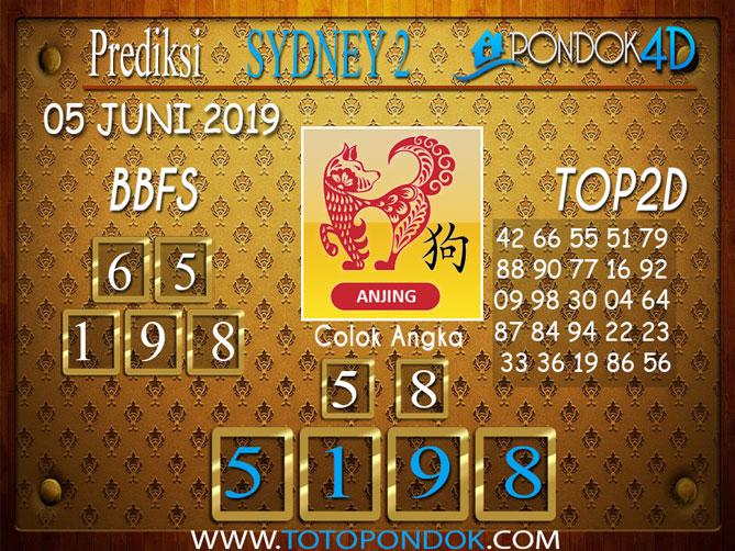 Prediksi Togel SYDNEY 2 PONDOK4D 05 JUNI 2019