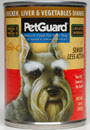 Picture of Petguard Senior Chicken, Liver and Vegetable Canned Dog Food