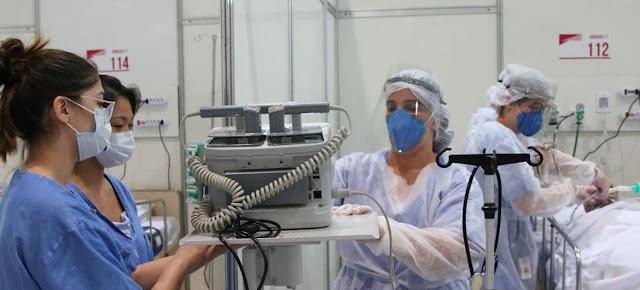 Trabajadoras de salud en Brasil.Agência Brasil/Rovena Rosa