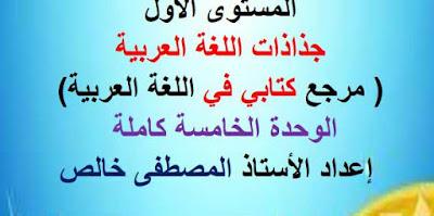 جذاذات-الوحدة-الخامسة-كتابي-في-اللغة-العربية-المستوى-الأول-بصيغة-معدلة-