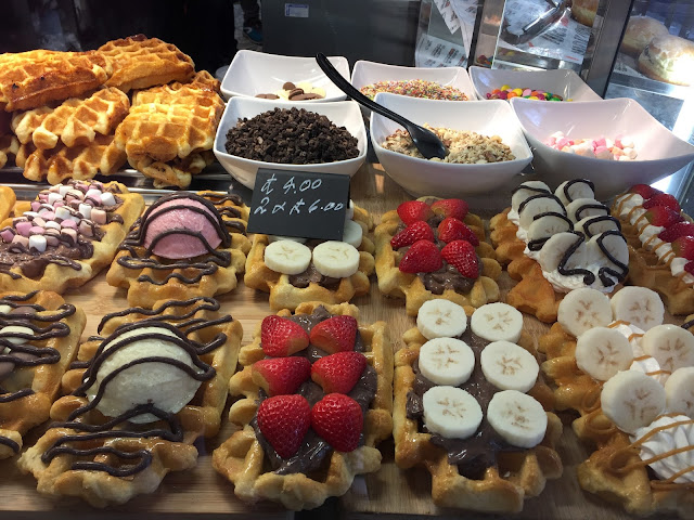waffles at South Kensington tube