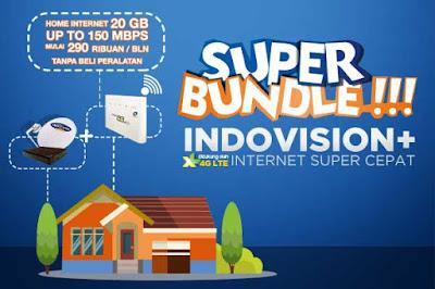 Cara Berlangganan Indovision Dengan Internet XL Super Cepat