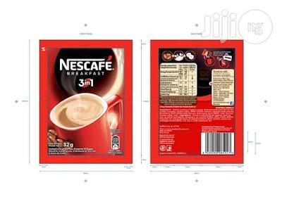 A sachet of Nescafe breakfast