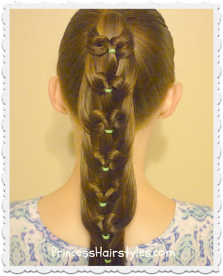 Kaleidoscope loop, pull-through ponytail hairstyle tutorial.