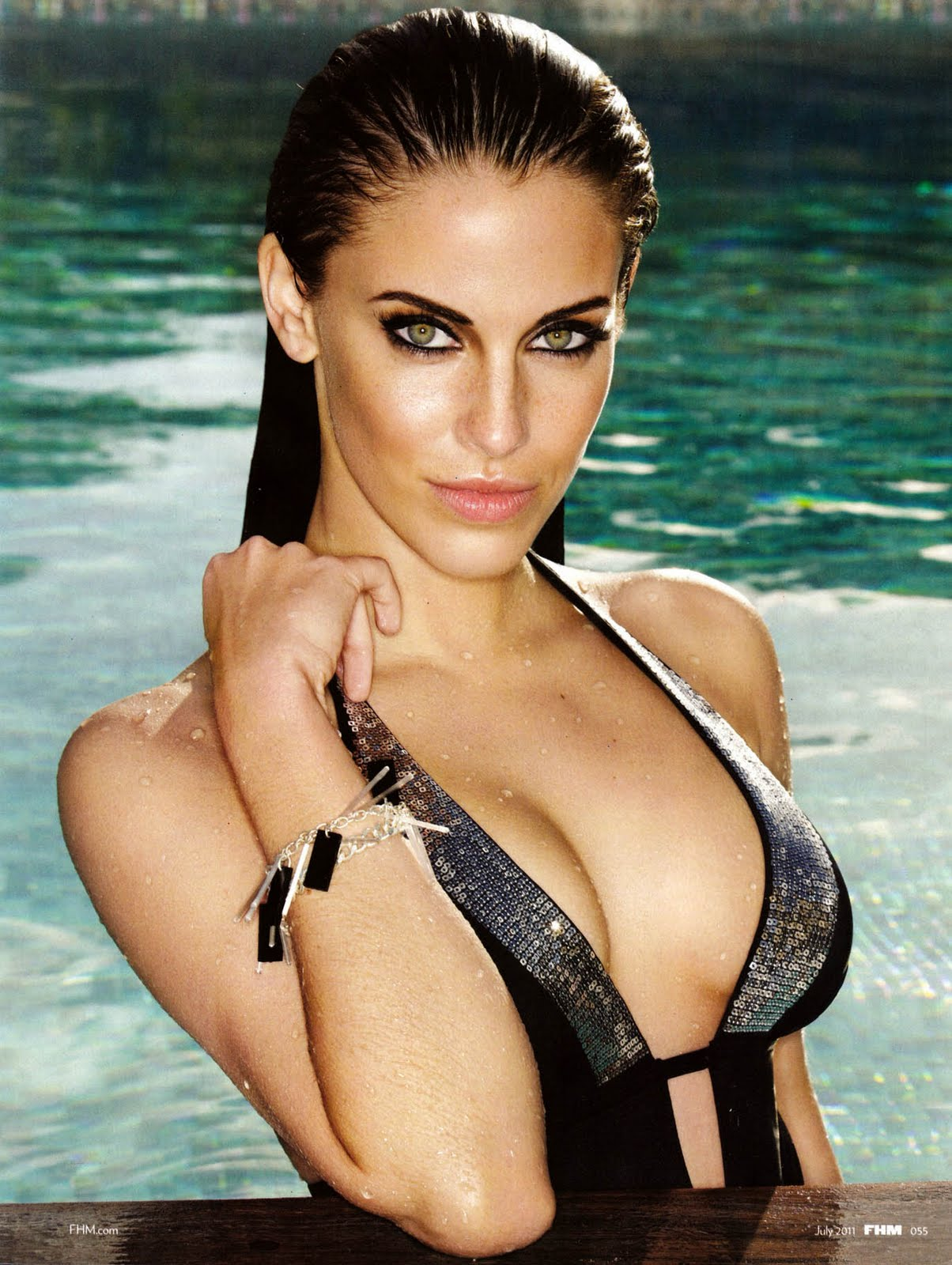 icon spreads jessica lowndes fhm july