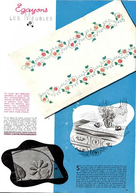 magazine mode et travaux octobre 1942 egayons les meubles