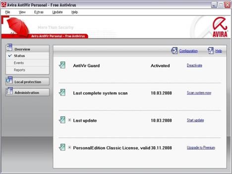 Avira Antivirus, Ringan Penggunaan Memori dan CPU