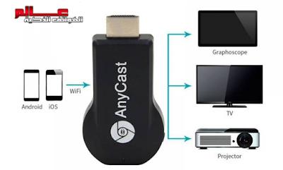 ماهو Anycast كاست وكيف يعمل ؟ جهاز اني كاست Anycast لربط الهاتف بالتلفاز