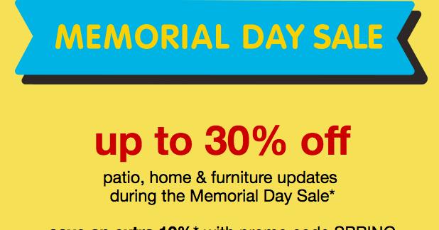 target addict sale alert memorial day sale on