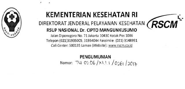Lowongan Kerja Non PNS RSUPN dr Cipto Mangunkusumo