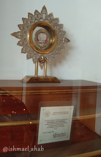 Relic of Padre Pio in St. Francis Church in Ortigas, Mandaluyong