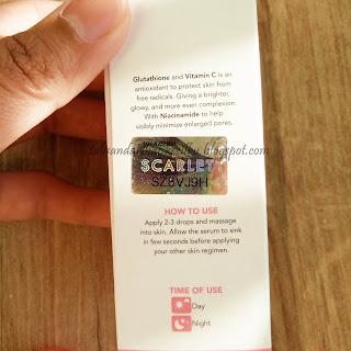 logo hologram scarlett serum