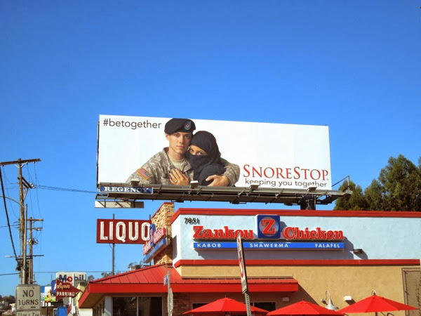 SnoreStop Be Together billboard