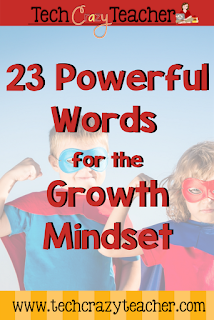 23 Powerful Words that will help teach your students the Growth Mindset