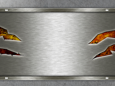 Silver metal with screws background