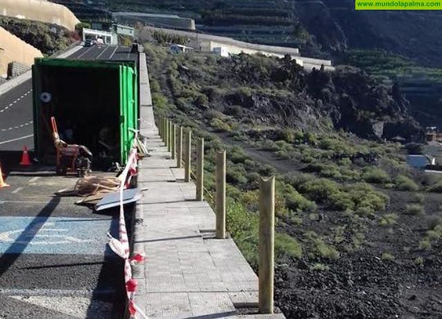 El Ayuntamiento de Los Llanos de Aridane mejora la seguridad en el acceso norte de la playa del Charco Verde
