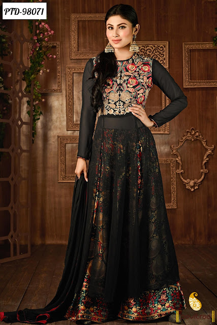 Black Color Designer Wedding Special Bridal Anarkali Salwar Suits Dress Online Shopping with Price India