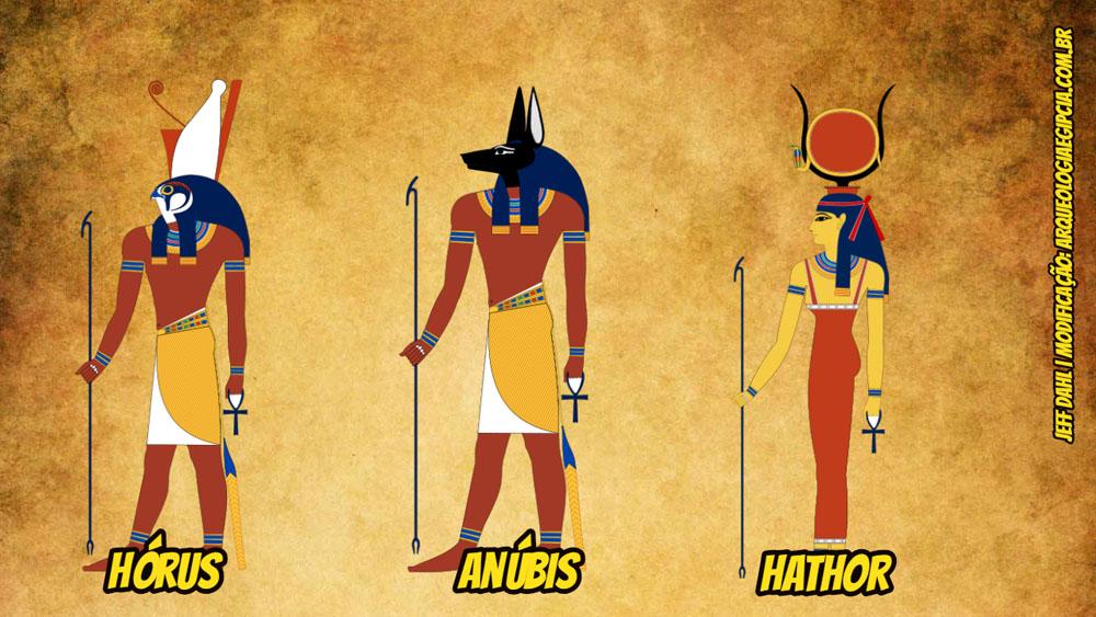 quais são os principais deuses do egito antigo arqueologia egípcia