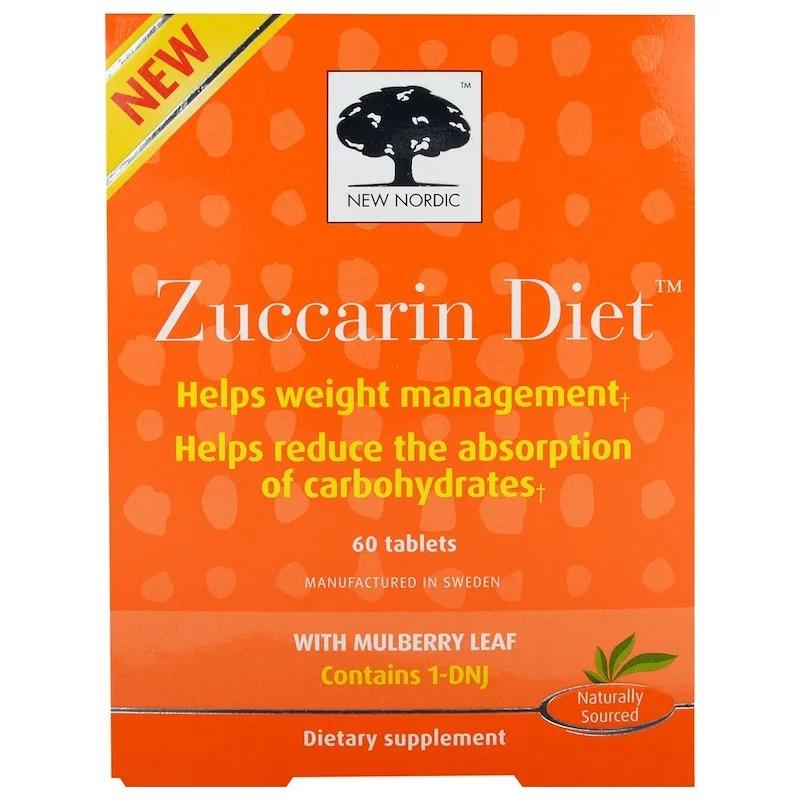 New Nordic, Zuccarin Diet, добавка для похудения, 60 таблеток