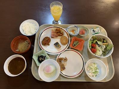 欣喜湯の朝食