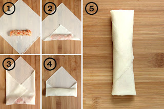 How to fold spring rolls