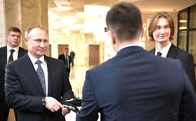 Vladimir Putin, students
