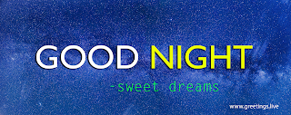 Beautiful sky with milky way stars and  Good Night Text message on image greetings.