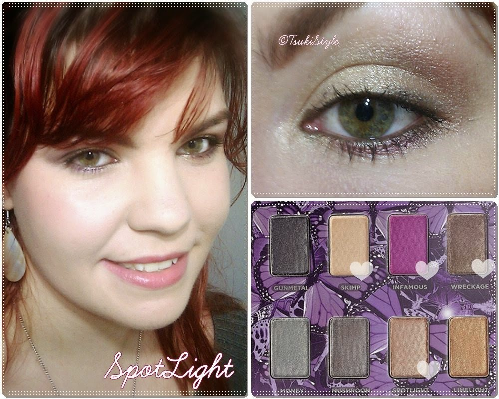 look sencillo mariposa palette urban decay makeup