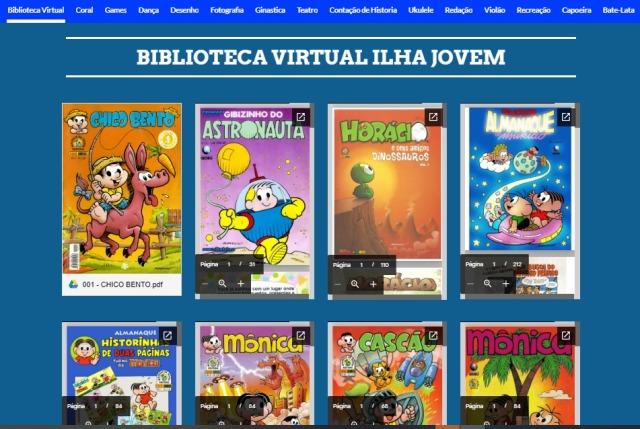 Projeto Ilha Jovem criou plataforma de leitura com  publicações on line disponíveis à população