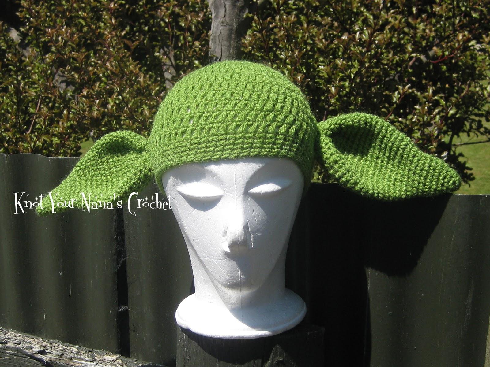 Knot Your Nana s Crochet  Crochet Yoda Hat 3e8fe79d71f