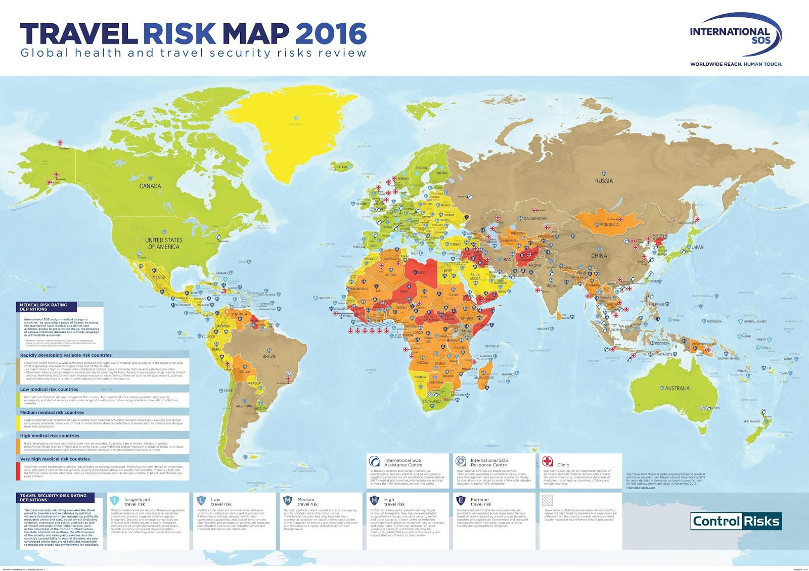 Travel Risk Map (2016)