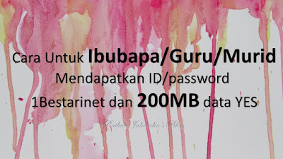 Cara Untuk Ibubapa Mendapatkan ID 1Bestarinet