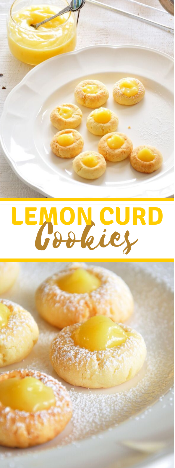 Lemon Curd Cookies #desserts #yummy