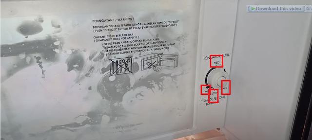Cara Mengatur Suhu Kulkas Sharp 1 Pintu dengan Tombol