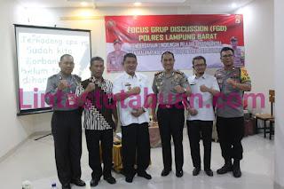 Satbinmas Polres Lampung Barat Gelar FGD Dengan Para Guru dan Ketua Osis