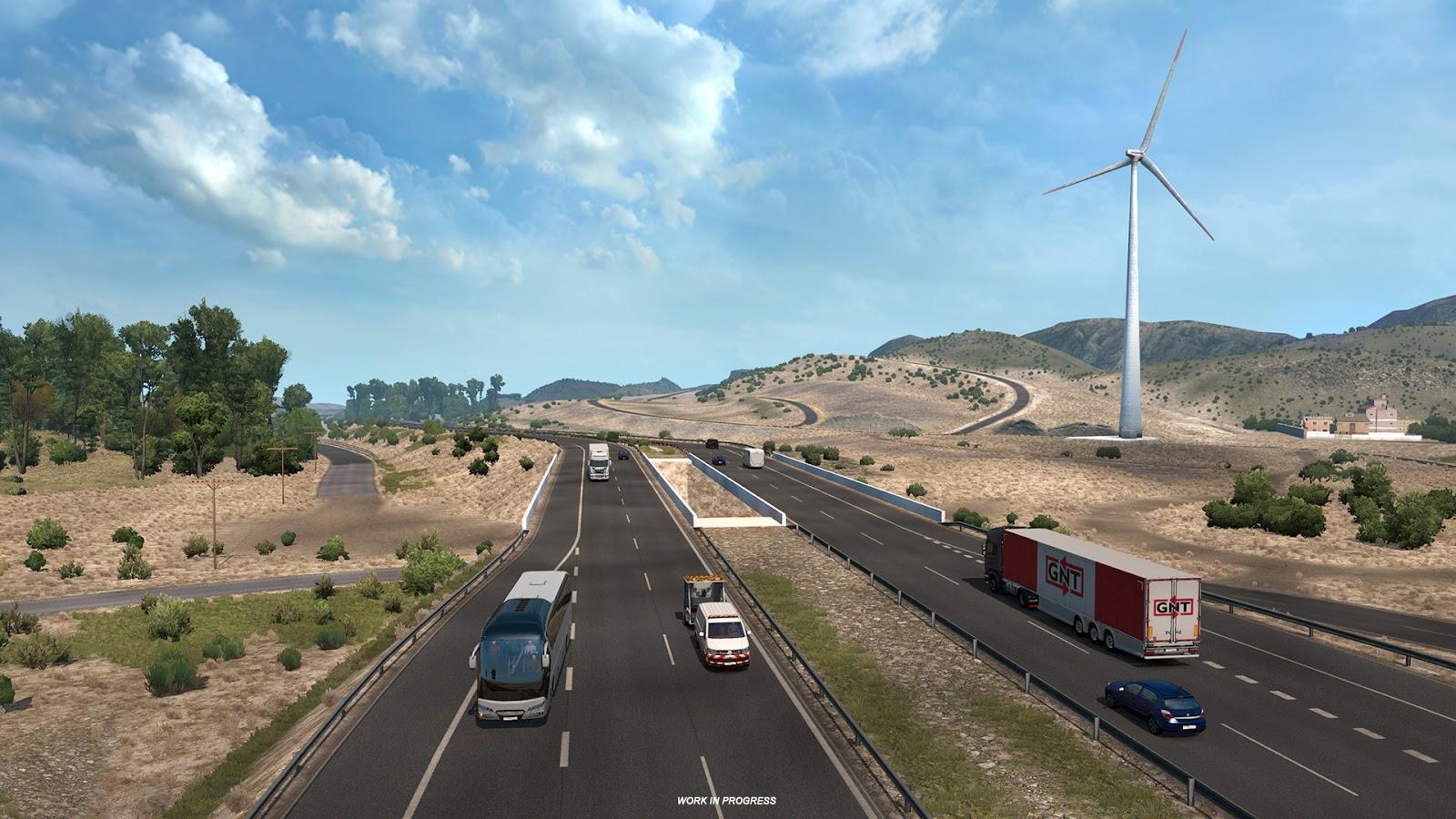 Así luce el Desierto de Tabernas en Euro Truck Simulator 2 para la expansión de Iberia 4