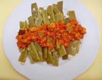 Judías Verdes con Soja y Calabacin