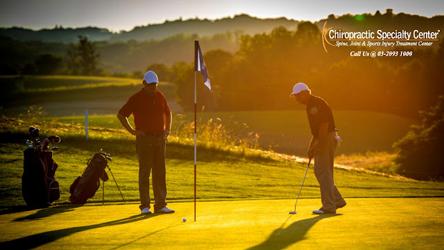 Back pain during golf in Malaysia