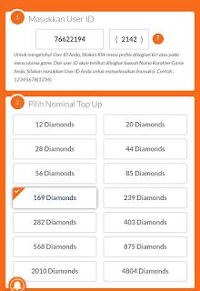 Beli diamond FF pake Pulsa Indosat Murah
